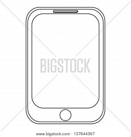 smartphone, smart phone communication icon isolated vector illustration