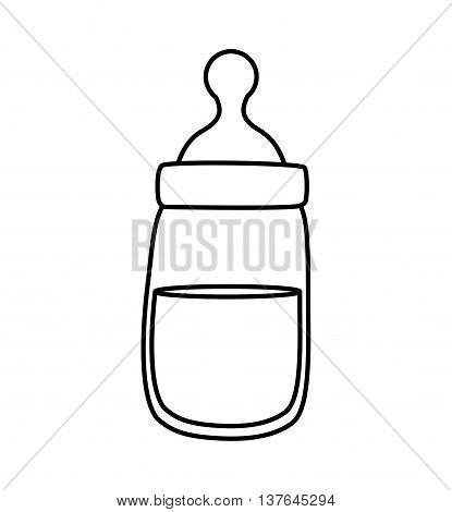 Baby concept represented by baby bottle icon. Isolated and flat illustration