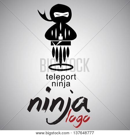 teleport ninja logo  concept designed in a simple way so it can be use for multiple proposes like logo ,marks ,symbols or icons.