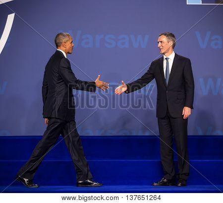Barack Obama And Jens Stoltenberg