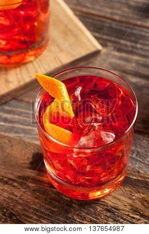 Homemade Boozy Negroni Cocktail
