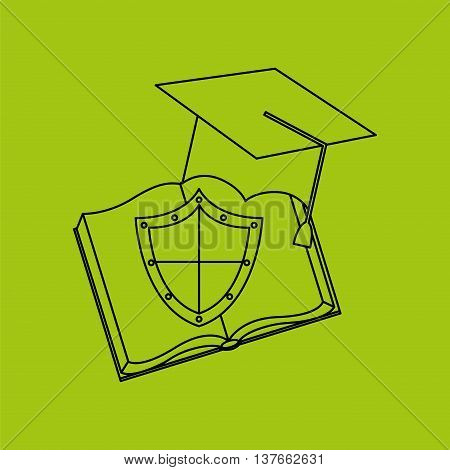 ensure protection insurance risk education isolated, vector illustration