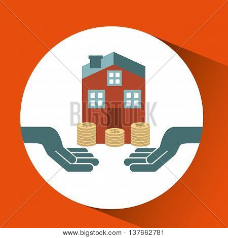 ensure protection insurance risk house isolated, vector illustration