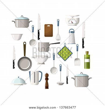 Set of some cooking utensils, vector illustration