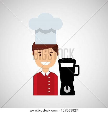 kitchen tools food Cookware blender appliance isolated, vector illustration