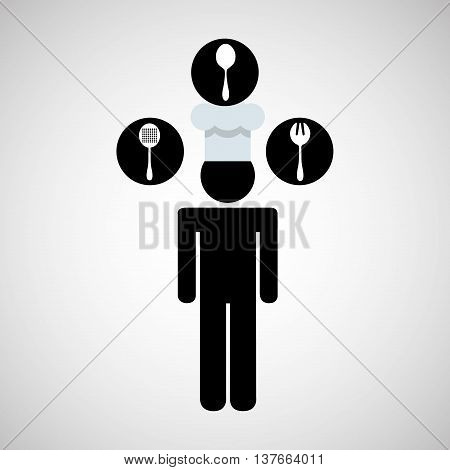 kitchen tools food Cookware cutlery isolated, vector illustration