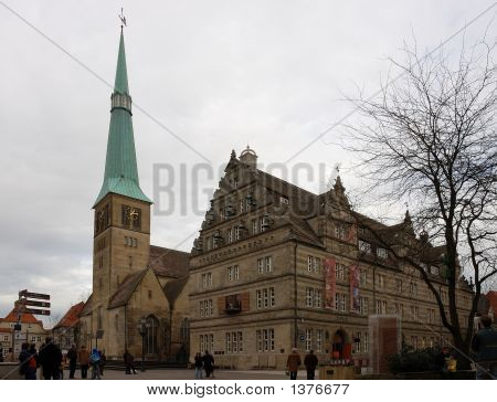 Historic Cathedral In Hamelin, Germany