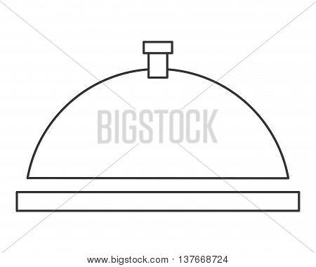 simple flat design dish tray icon vector illustration