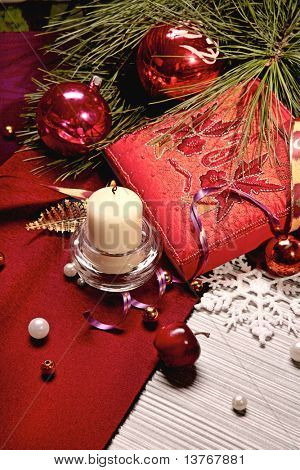 Beautiful image of multicolored holiday decorations