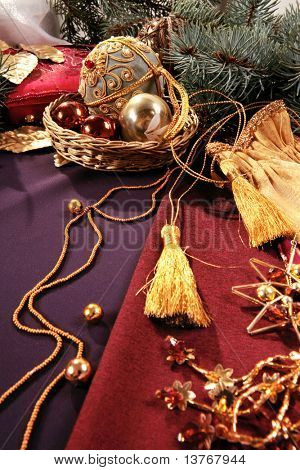 Image of elegant simple christmas objects