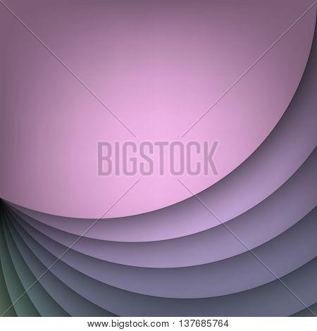 Arc modern vector background for poster, book, brochure, website design or presentations. Arc layered purple shape base. Vector illustration