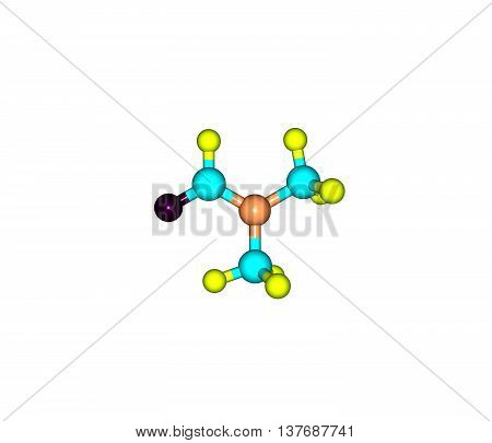 Dimethylformamide or DMF is an organic compound with the formula CH32NCOH. Commonly abbreviated as DMF. This colourless liquid. DMF is a common solvent for chemical reactions. 3d illustration