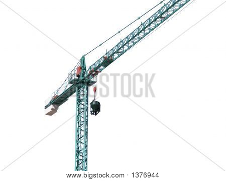 Crane Isolated In White