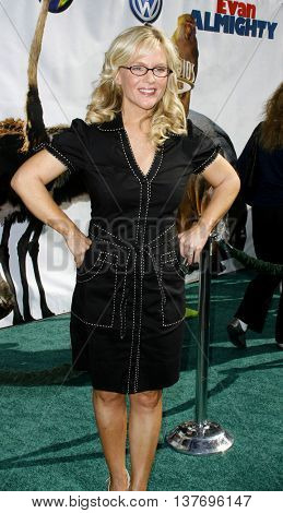 Rachael Harris at the World premiere of 'Evan Almighty' held at the Universal Citywalk in Universal City, USA on June 10, 2007.