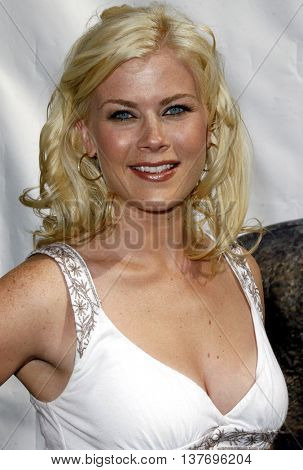 Alison Sweeney at the World premiere of 'Evan Almighty' held at the Universal Citywalk in Universal City, USA on June 10, 2007.