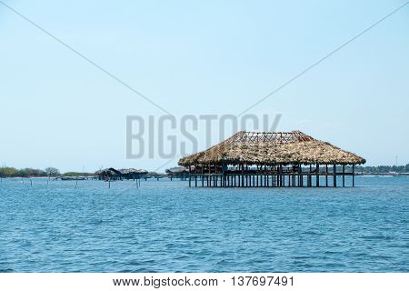 Restaurante Built On Water In El Salvador