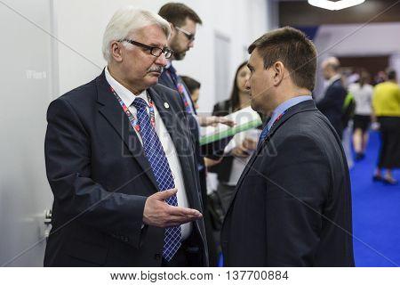 Pavlo Klimkin And Witold Waszczykowski