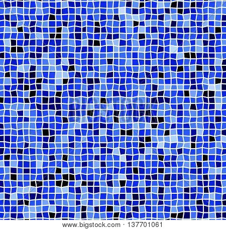 Mosaic With Irregular Tiles And Different Shades. Tessellating Revetment Background, Pattern.