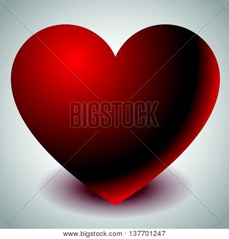Illustration With Heart Shape. Love, Affection, Valentine's Day Concepts.