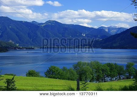 Tegernsee And The Alps