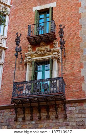 Balcony Of Casa Terrades In Avinguda Diagonal Of Barcelona