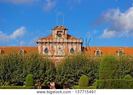 Parliament Of Catalonia In Ciutadella Park In Barcelona