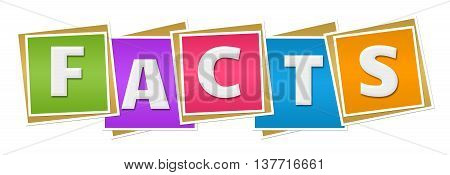 Facts text written over colorful squares background.