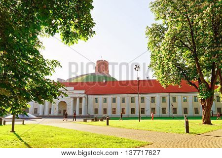 National Museum Of Lithuania And Gediminas Tower In Vilnius