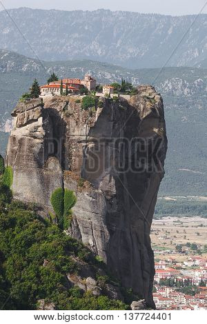 Monastery Agia Triada (Holy Trinity) at the Meteora Rocks in Thessaly in Greece