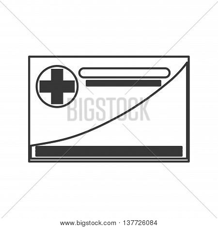 simple flat design medical insurance card icon vector illustration