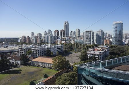 Buenos Aires, Argentina - July 06, 2016: Palermo Neighborhood, Buenos Aires Cityscape, Argentina