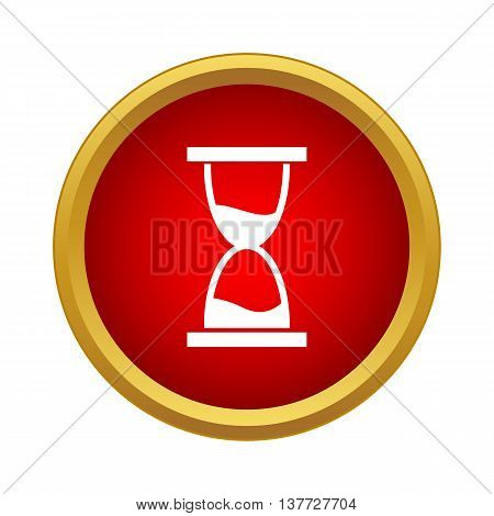 Hourglass icon in simple style on a white background