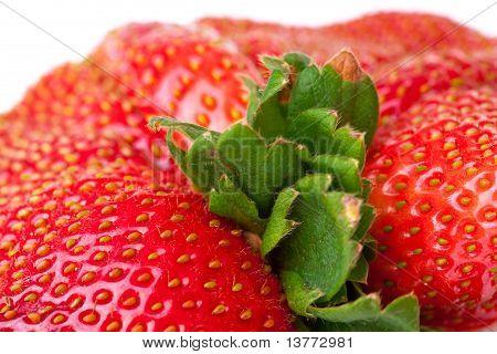Macro Closeup Full Frame Fresh Red Strawberry
