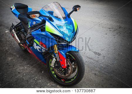 Blue Suzuki Gsx-r1000 Motorcycle