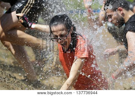 Extreme Sport Challenge Cold Water Girl
