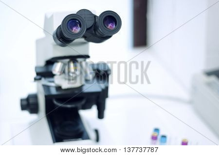 Medical microscope for chemical medical analyzes and tests