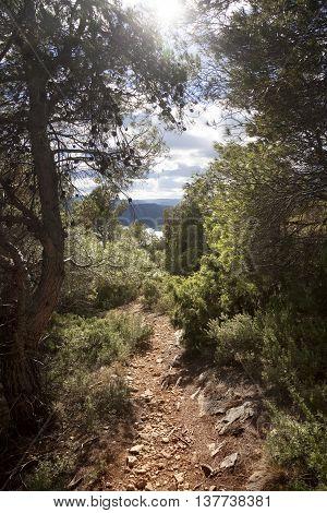 Way to La Caixa mountain from Beceite. Teruel Province