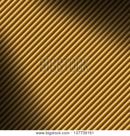 Diagonal gold tube background texture lit dramatically