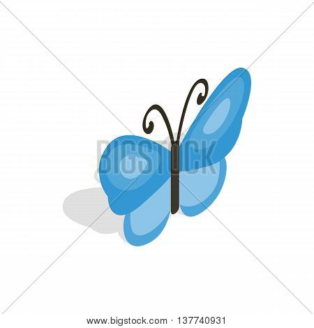 Butterfly icon in isometric 3d style isolated on white background. Insects symbol