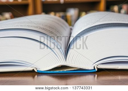 Open Book On The Table