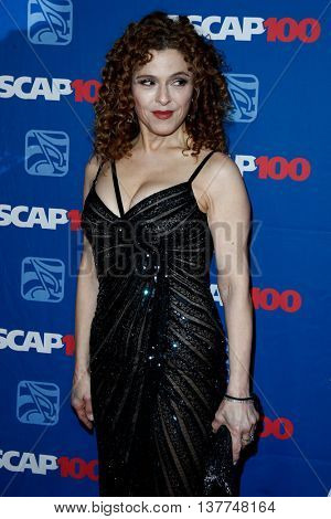 NEW YORK-NOV 17: Actress Bernadette Peters attends the ASCAP Centennial Awards at The Waldorf Astoria on November 17, 2014 in New York City.