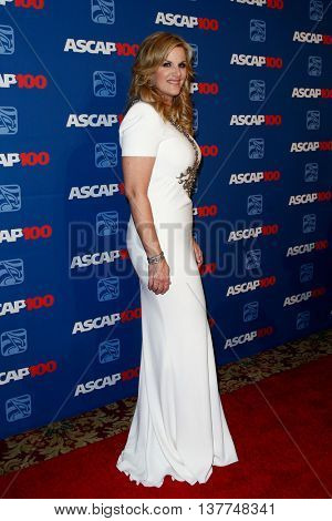 NEW YORK-NOV 17: Singer Trisha Yearwood attends the ASCAP Centennial Awards at The Waldorf Astoria on November 17, 2014 in New York City.