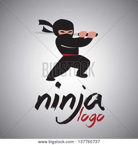 ninja logo 2 concept designed in a simple way so it can be use for multiple proposes like logo ,marks ,symbols or icons.