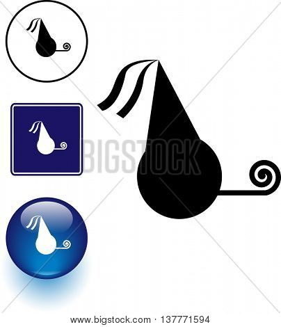 party symbol sign and button