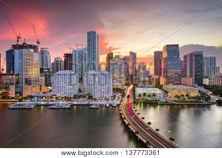 Miami, Florida, USA downtown Skyline.