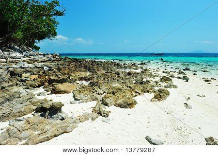 Seascape Of Koh Rok Island At  Krabi, Thailand