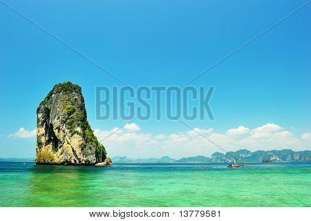 Limestone Cliffs In Krabi Province