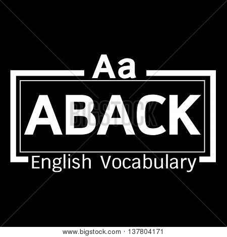 an images of ABACK english word vocabulary illustration design