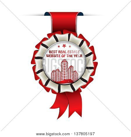 Best real estate website of the year - hanging award ribbon