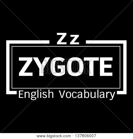 an images of ZYGOTE english word vocabulary illustration design